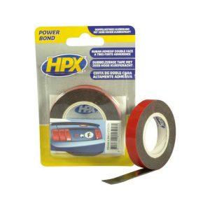 HPX Dubbelzijdig Bevestigingstape Antraciet 12mm x 2mtr