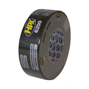 HPX Cloth Tape Zwart 50mtr x 50m